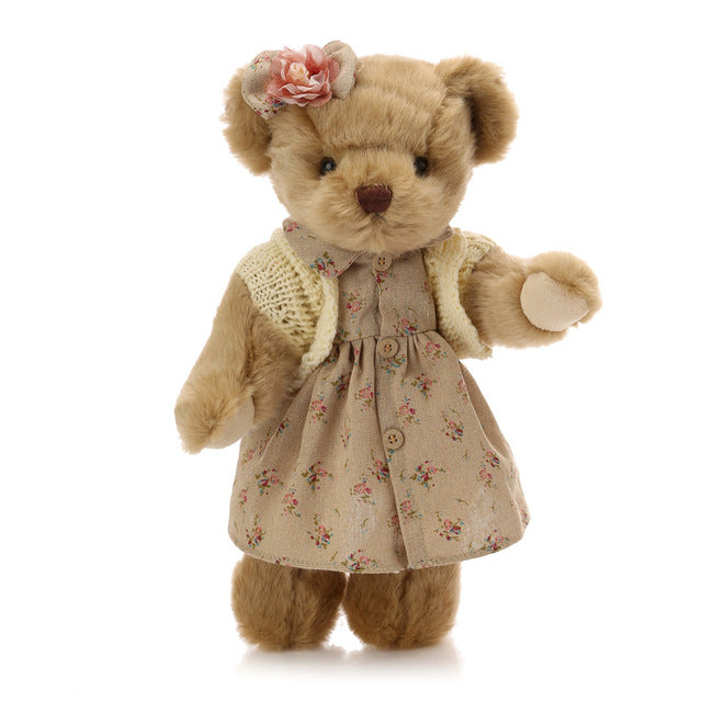 Cute Retro Teddy Bear Stuffed Toy - shopaholics