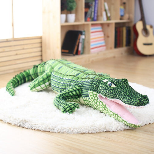 Large Stuffed Alligator Plush Soft Toy - Shopaholics