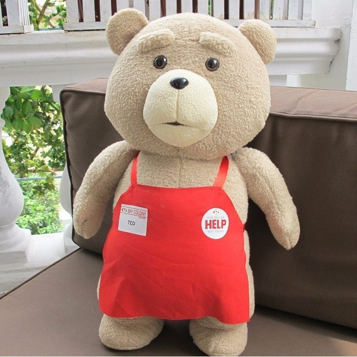 Teddy Bear Ted 2 Toys In Apron Soft Stuffed Animals - shopaholics