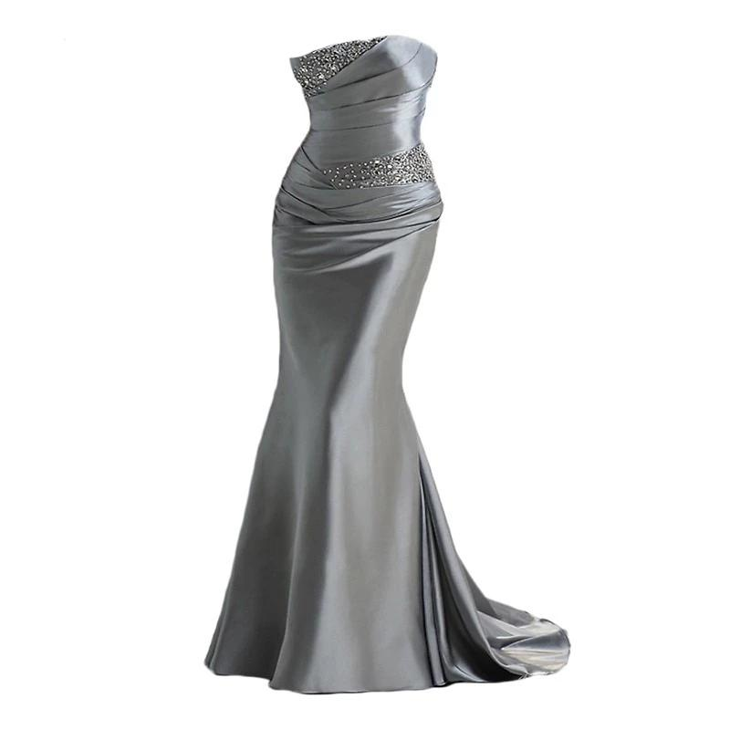 Elegant Mermaid Evening Party Gown - shopaholics
