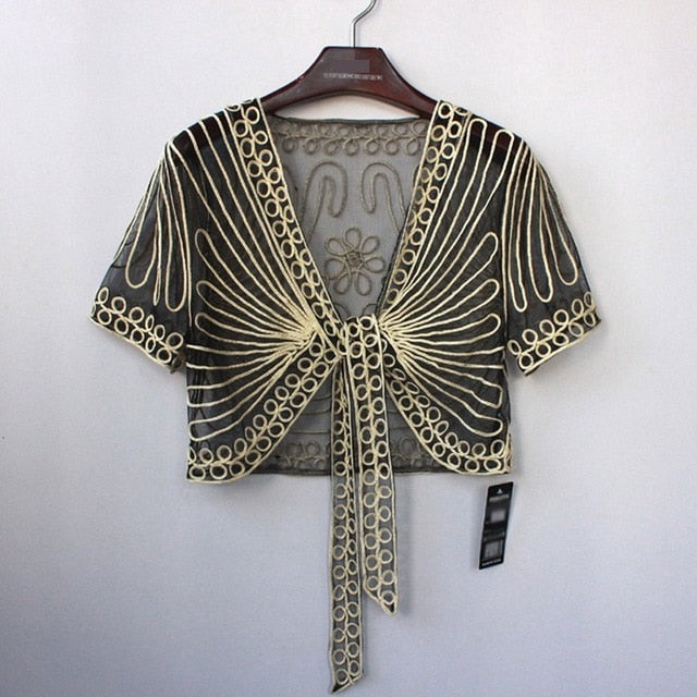 Women Clothing Wild Perspective Small Shawl - shopaholics