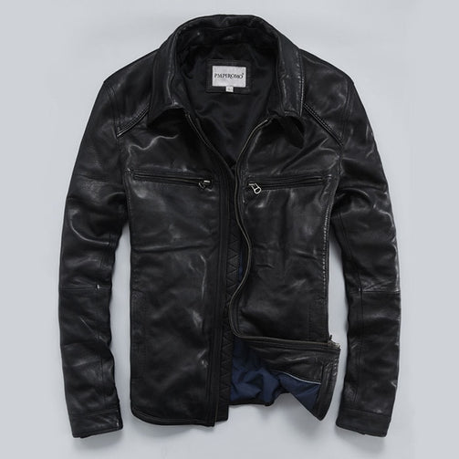 Men's Genuine Leather Jacket - Shopaholics