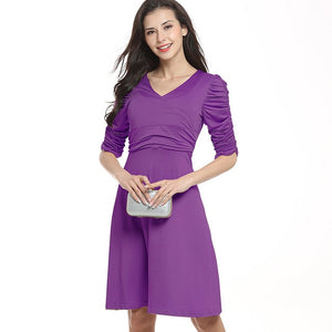 Solid Casual Dress for Women - shopaholics