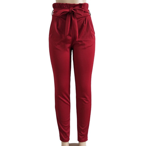 High Elastic Waist Harem Pants for Women - Shopaholics