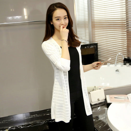 Korean Thin Long Cardigan Shrug for Women - Shopaholics