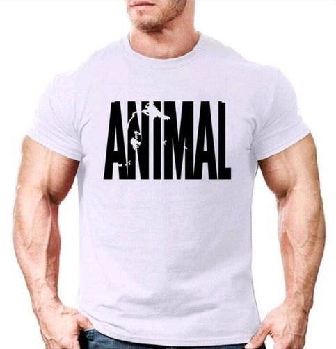 Animal Printed Gym T-Shirt for Men - Shopaholics