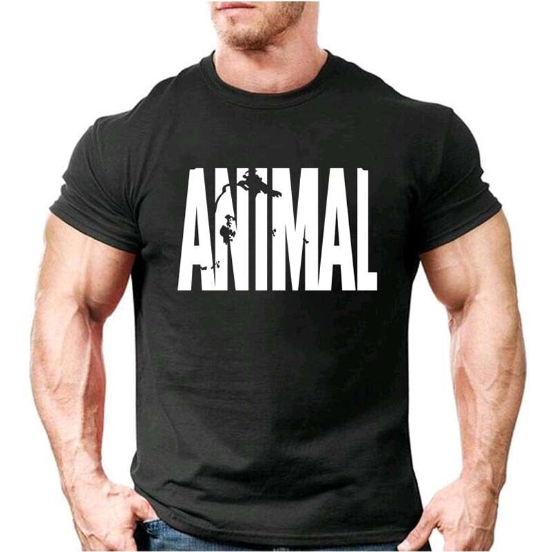 Men's Animal Printed T-Shirt for Gym - shopaholics