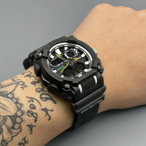 Antimagnetic Street G-Shock Resin Strap Wrist Watch For Men - Shopaholics