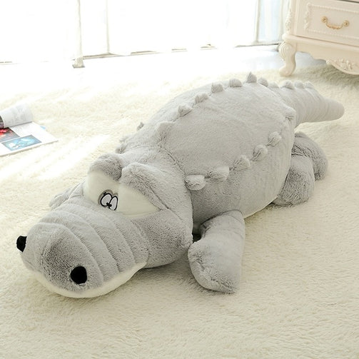 Crocodile Lying Section Pillow Mat Soft Toys - Shopaholics