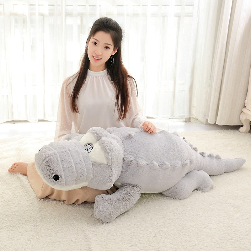 Crocodile Lying Section Pillow Mat Soft Toys