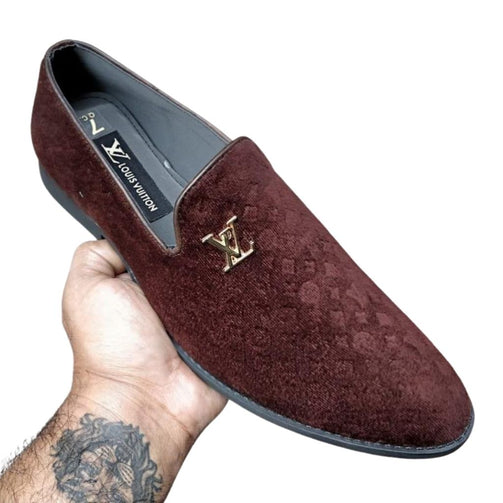 Casual Velvet Loafers Shoes For Men - Shopaholics