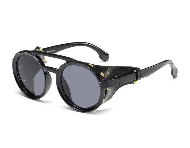 Classic Round Steampunk Sunglasses for Men - shopaholics