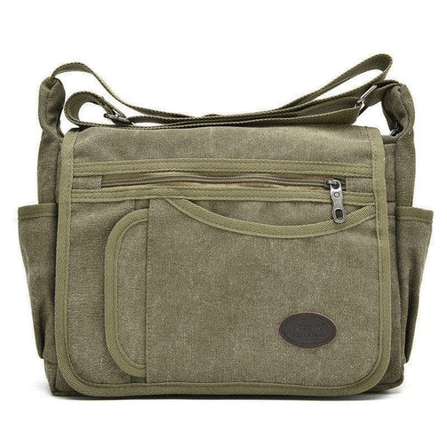 Unisex Canvas Shoulder Messenger Bags - Shopaholics