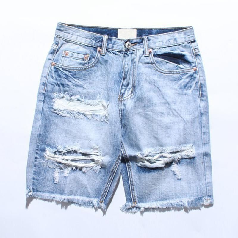 Cool Rugged Denim Shorts for Men