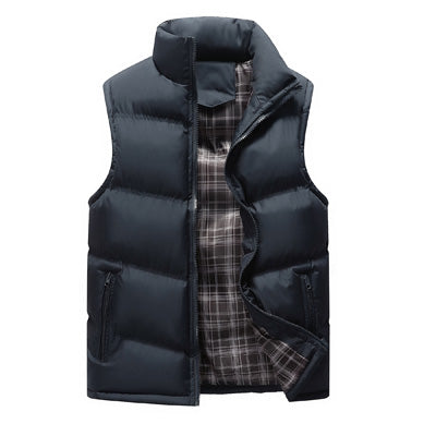 Cotton Padded Waistcoat Jacket for Men - Shopaholics