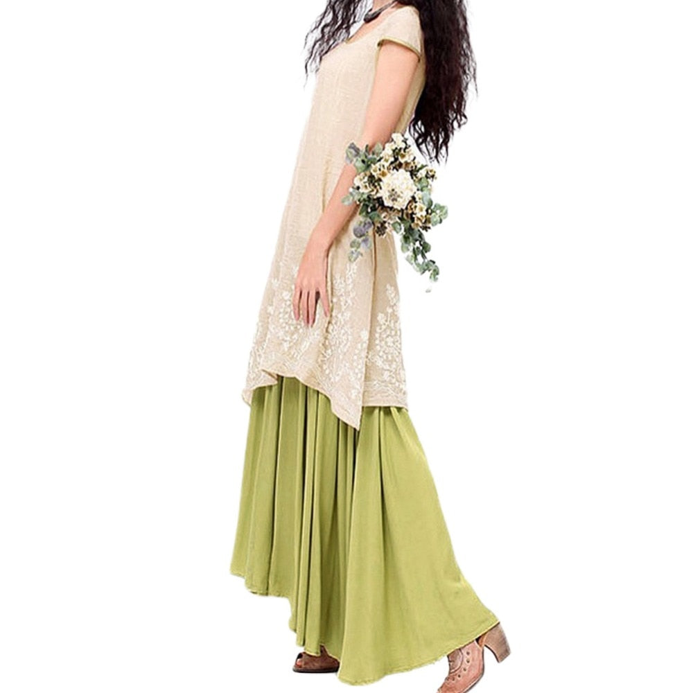 Summer Casual Loose Maxi Dress for Women