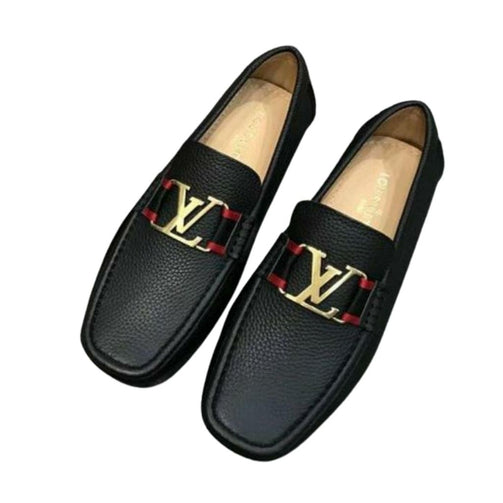 Formal Solid Leather Loafers Shoes For Men - Shopaholics