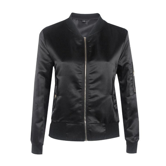 Winter Bomber Jacket | Women Casual Slim Basic Coat - shopaholics