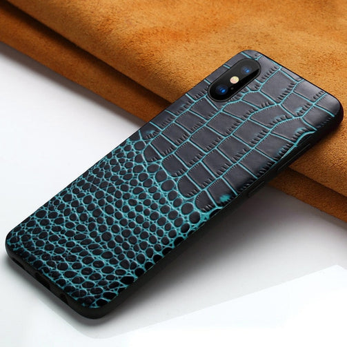 Genuine Leather Case for iPhone - Shopaholics