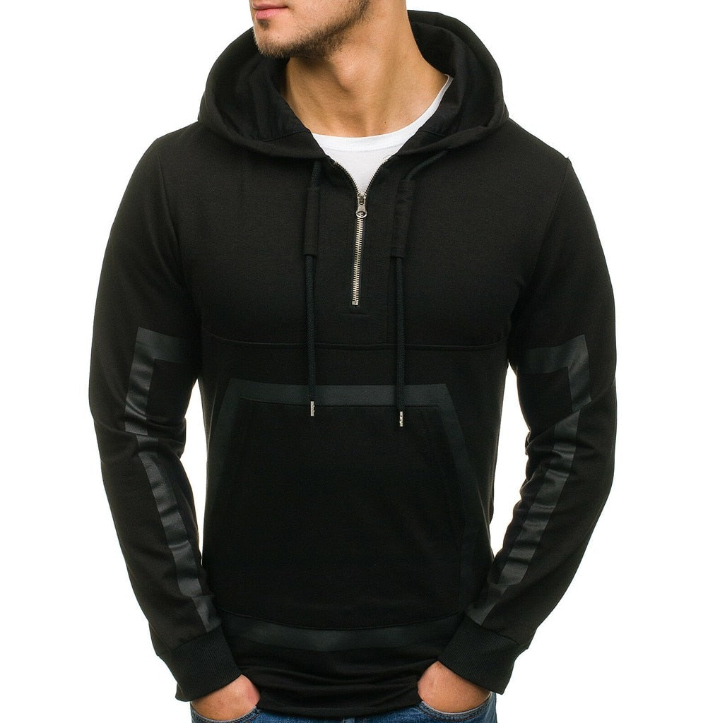 Casual Hooded Zipper T-Shirt for Men
