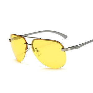 Polarized Metal Half Frame Sunglasses for Men