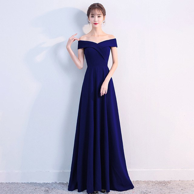 Boat Neck Sleeveless Formal Gown - shopaholics