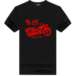 Summer Men Motorcycle Short Sleeve T-Shirt - shopaholics