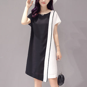 Chiffon Dual Colour Mini Dress for Women - shopaholics