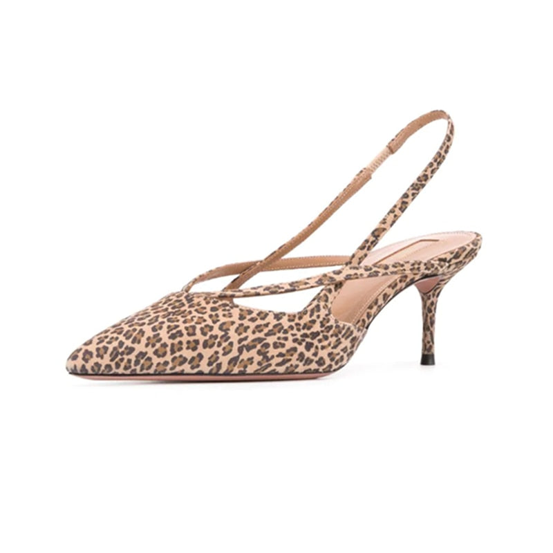 Elegant Leopard Printed Sandals for Women