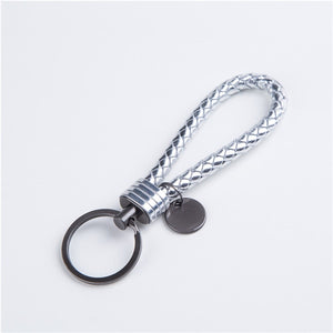 Unisex Braided Leather Rope Handmade Waven Keychain - shopaholics
