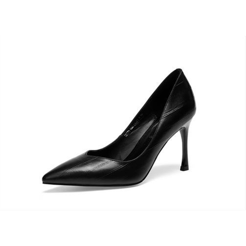 Luxury Women Leather High Heel Pumps - Shopaholics