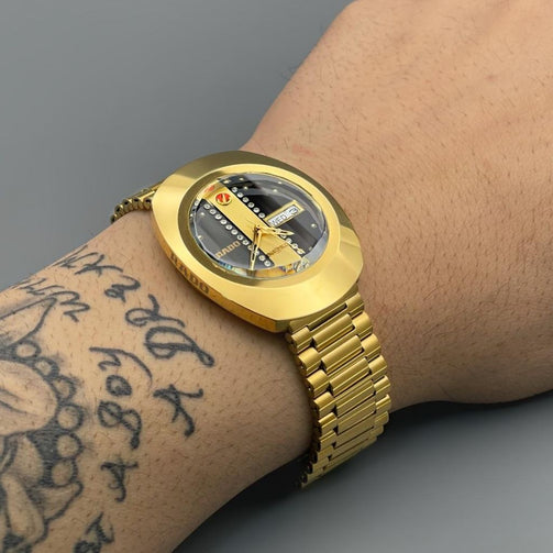 Luxury Gold Solid Stainless Steel Wrist Watch For Men - Shopaholics