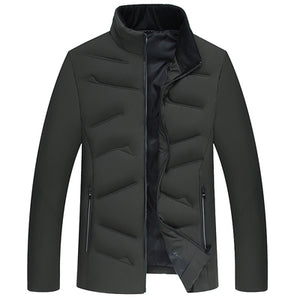Winter Men Jacket | Casual Cotton Padded - shopaholics