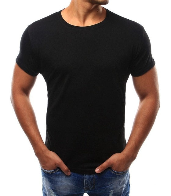 Short Sleeve Solid Color T-Shirt - shopaholics