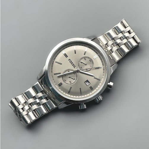 Mega Machine Chronograph Stainless Steel Wrist Watch For Men - Shopaholics