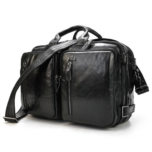 Men Genuine Leather Business Bag - Shopaholics