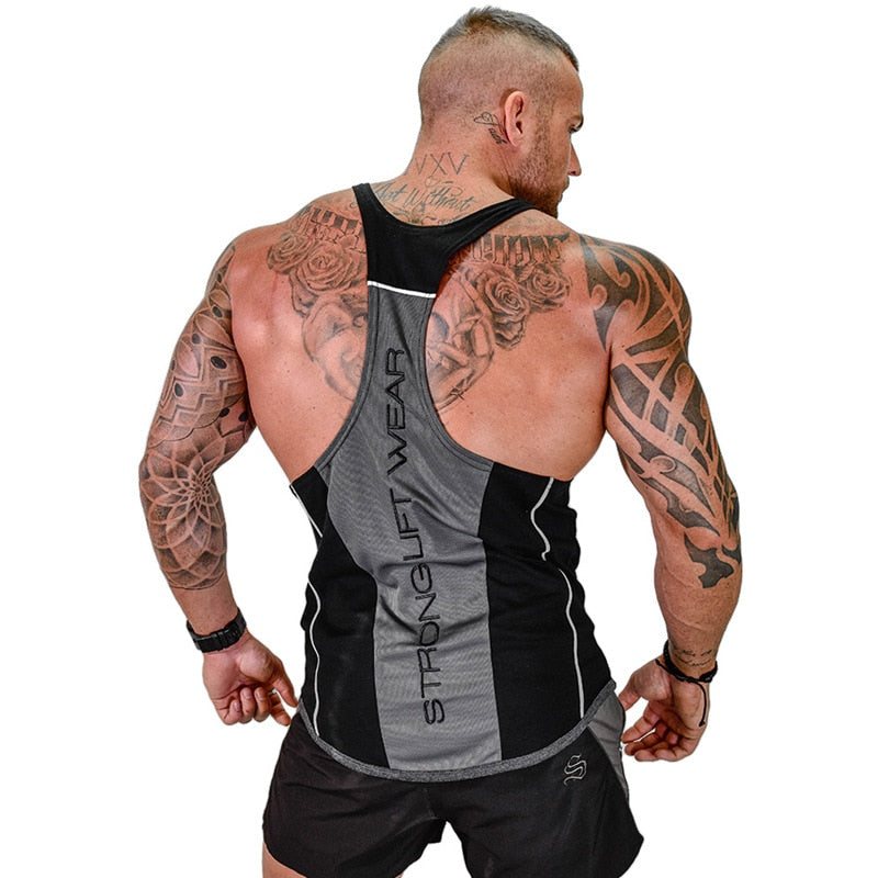 Men Bodybuilding Tank Top for Gym - shopaholics