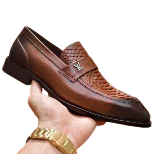 New Fashionable Formal Leather Loafers Shoes For Men - Shopaholics