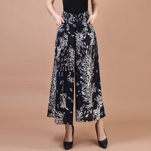 Printed Wide Leg Pant for Women - shopaholics