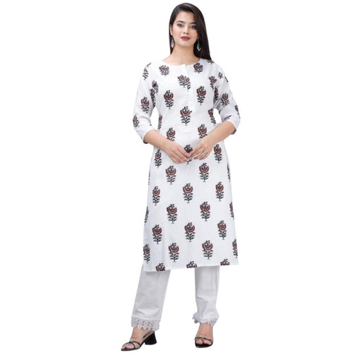 Rayon Kurti And Cambric Cotton Paint For Women - Shopaholics