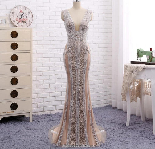 Super Elegant Mermaid Evening Party Gown for Women - Shopaholics