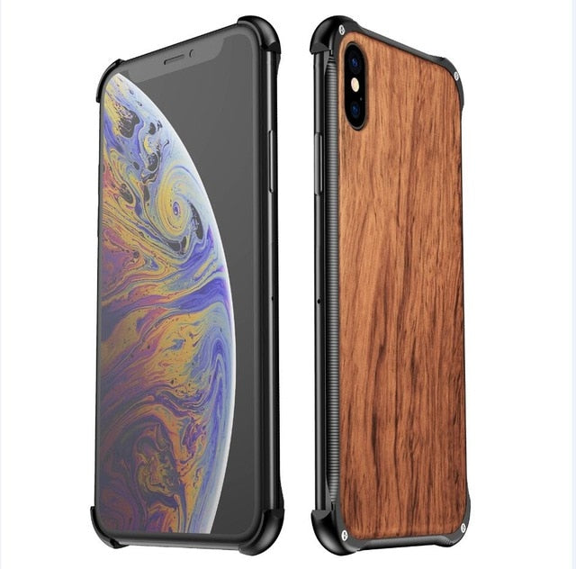 Luxury Wooden Case For iPhone - shopaholics