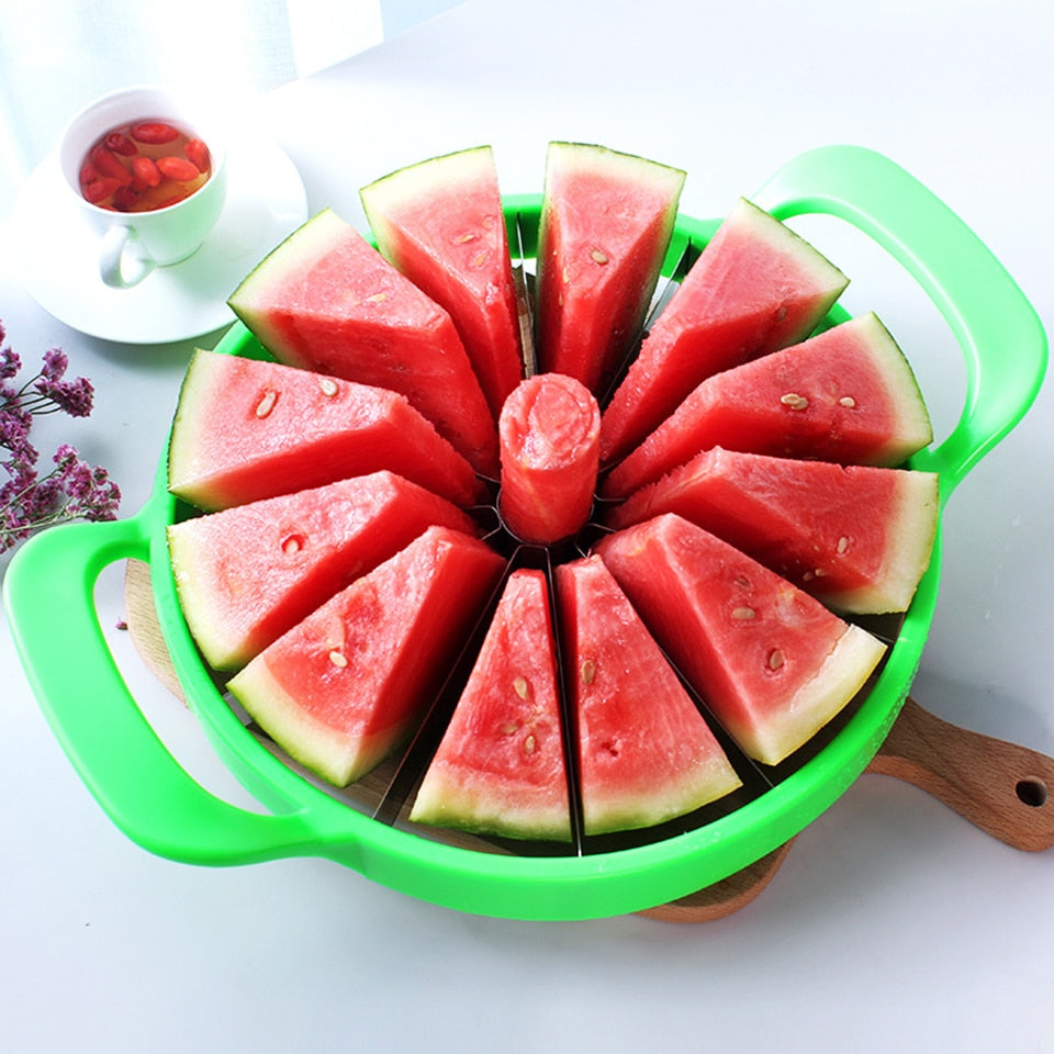 Stainless Steel Watermelon Slicer Cutter - shopaholics