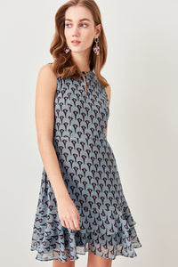 Multicolored Patterned Dress for Women - shopaholics