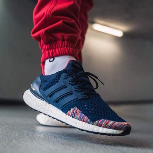Ultra Boost Blue Sports Shoes For Men - Shopaholics