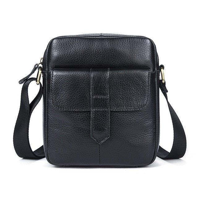 Men Genuine Leather Shoulder Bag - shopaholics