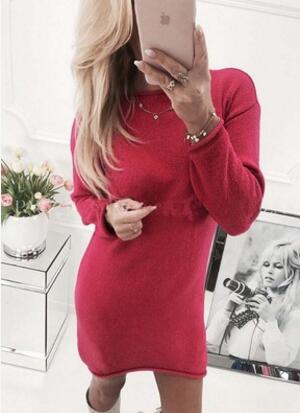 Winter Knitted Bodycon Dress for Women - shopaholics