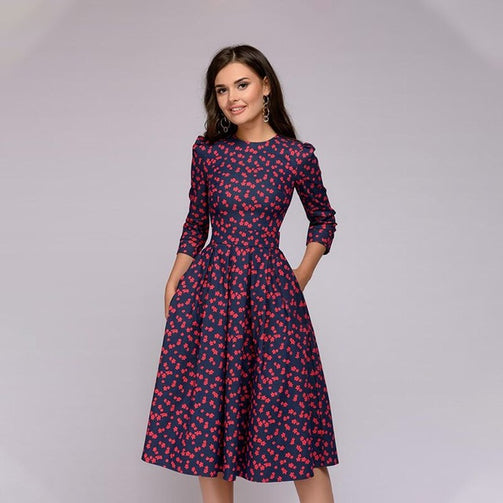 Women Elegent A-line Dress - Shopaholics