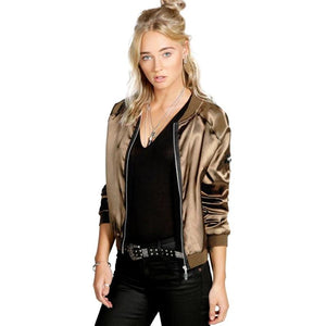 Snowshine Fashion Women Casual Zipper Vintage Jacket - shopaholics