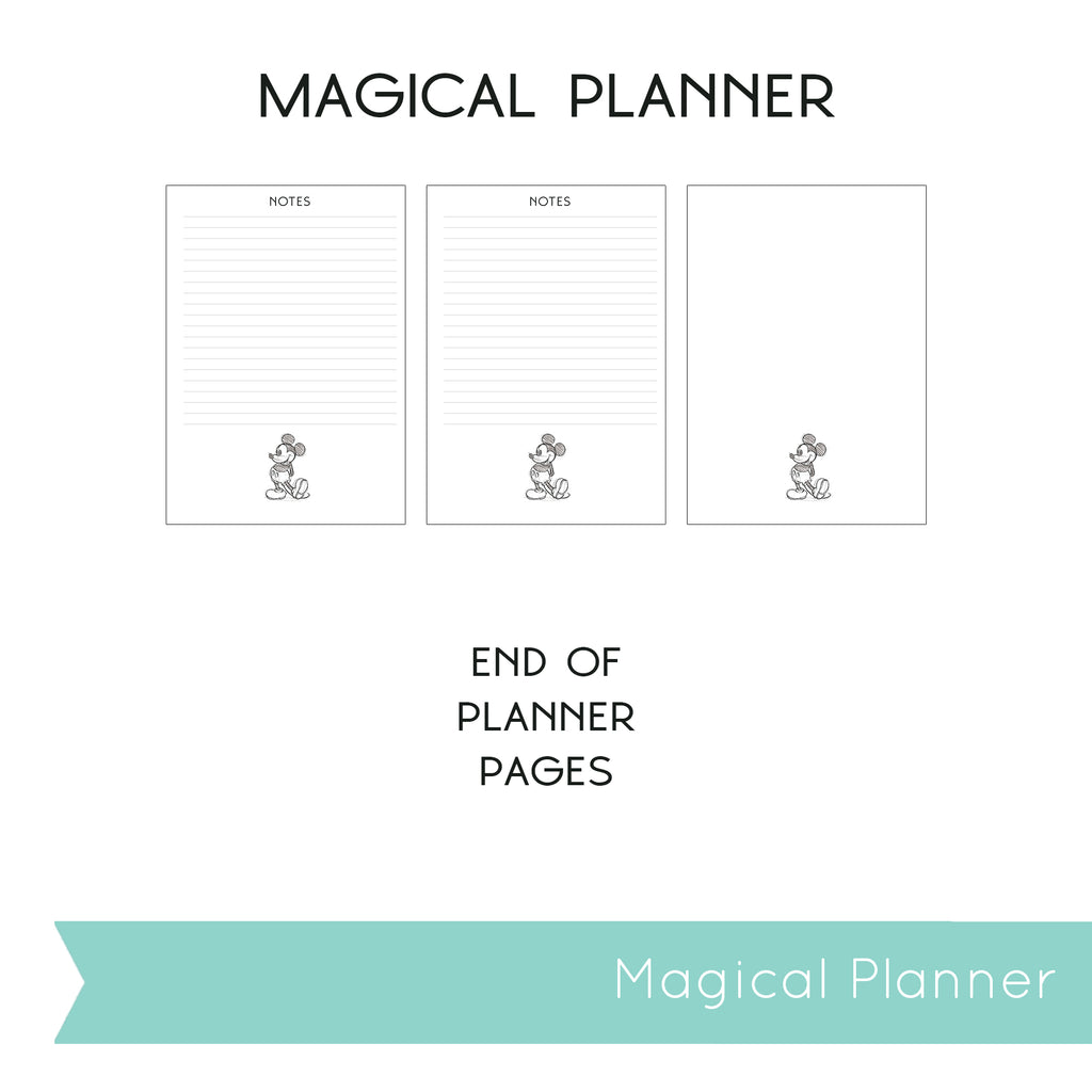 Magical Planner VERTICAL PRINTABLE INSERTS